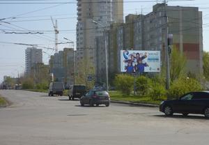 пр. Голикова - ул. Мостостроителей, напротив Ежевики)_реклам...