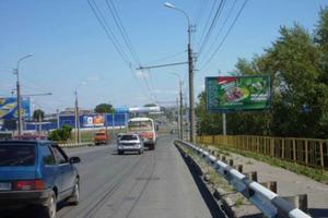ул. К. Мяготина подъезд к Гипер Сити (мост)_биллборды (рекла...