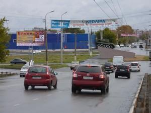 ул. К. Мяготина (у танка)_биллборды (рекламные щиты 6х3)