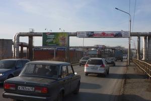 ул. Автозаводская, въезд на Чеховский виадук_биллборды (рекл...