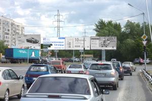 ул. Б. Петрова, 60 (виадук) левый_рекламныее щиты, биллборды...