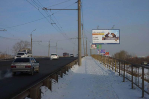 ул. К. Мяготина, мост из Энергетиков_биллборды (рекламные щи...